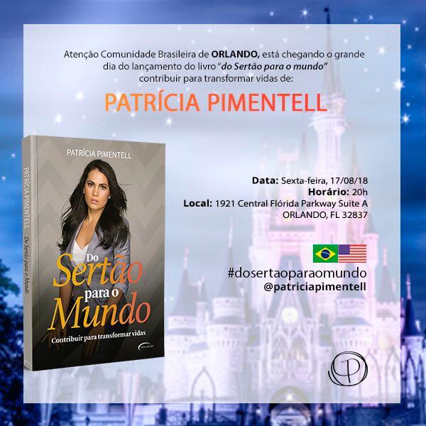 Patricia Pimentell lança seu livro nos EUA