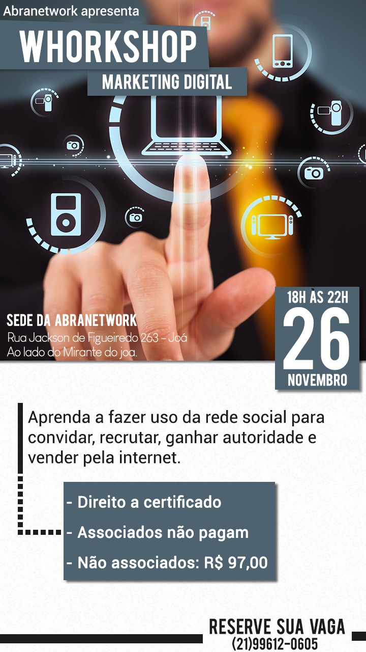 Curso de Marketing Digital Gratuito para Associados da Abranetwork