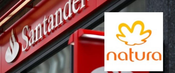 Resultado de imagem para Natura e Santander